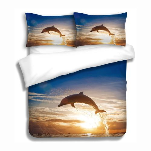 Dolphin Sunset Quilt Cover Set by Georges Fine Linens