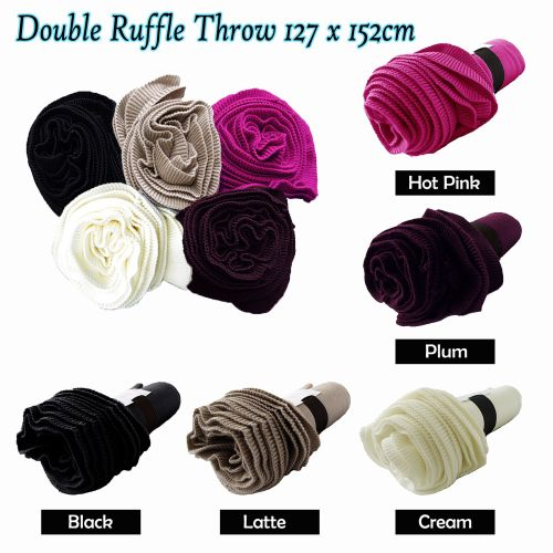 Double Ruffle Throw by Accessorize