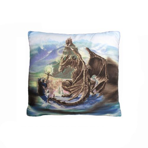 Dragon Encounter Filled Square Cushion by Disney