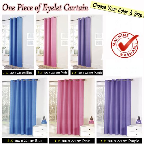 Easy Care Quality Eyelet Blackout Curtain by Bloomington