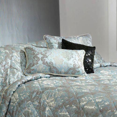 Edinburgh Blue Filled Cushion Oblong by Bianca