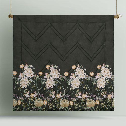 Elisa Coffee Printed 3 Piece Comforter Set by Big Sleep