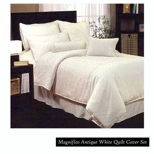 Magnifico Antique White Quilt Cover Set Queen by Phase 2