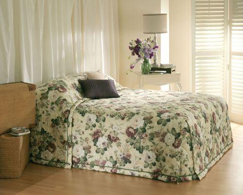 English Garden Cream Bedspread by Bianca