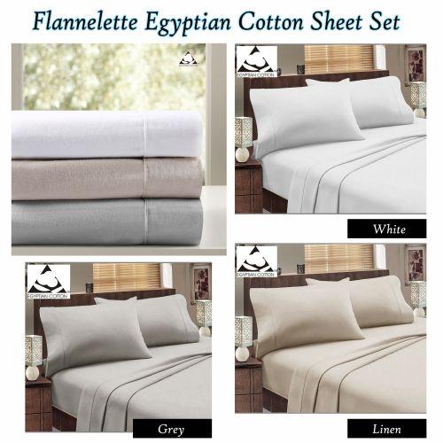 Flannelette Egyptian Cotton Sheet Set by Accessorize