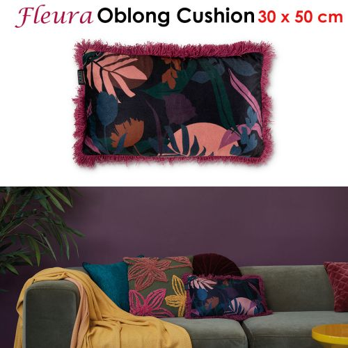 Fleura Multi Filled Oblong Cushion by Bedding House