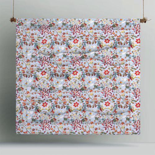 Florent Blue Printed 3 Piece Comforter Set by Big Sleep