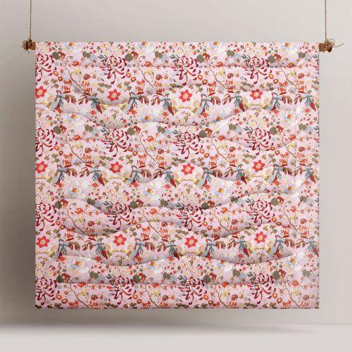 Florent Pink Printed 3 Piece Comforter Set by Big Sleep