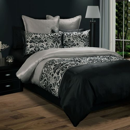 Darcy Flocking Quilt Cover Set by Georges Fine Linens
