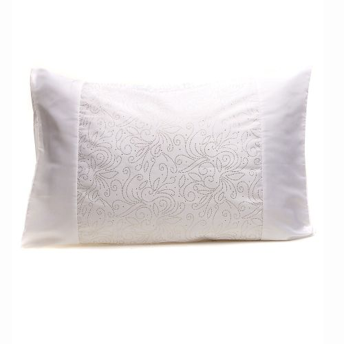 Midas White Embellished Quilt Cover Set by Georges Fine Linens