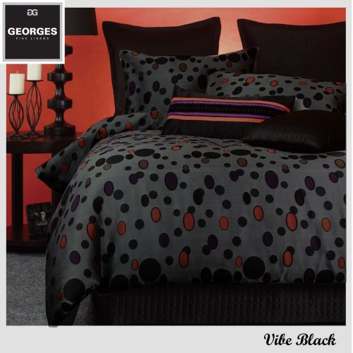 Vibe Jacquard Quilt Cover Set by Georges Fine Linens