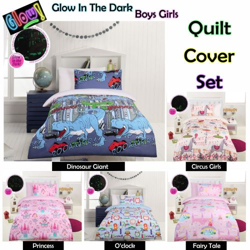 Glow In The Dark Kids Quilt Cover Set by Happy Kids