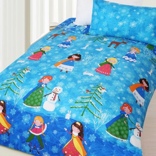 Glow in The Dark Snow Princess Quilt Cover Set by Happy Kids