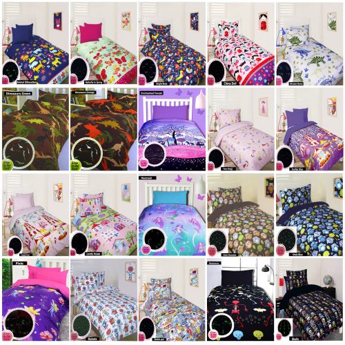 Glow In The Dark Quilt Cover Set