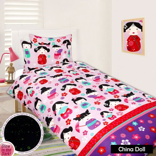 Glow In The Dark Quilt Cover Set - China Doll