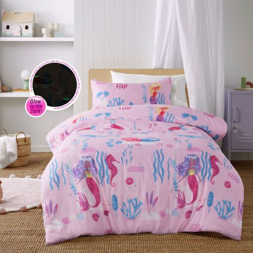 Glow in the Dark Under the Sea Quilt Cover Set by Happy Kids