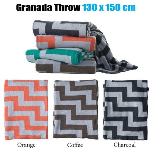 Granada Chevron Throw 130 x 150 cm by Brighton Road