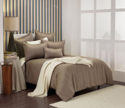 Hampshire Taupe Quilt Cover Set by Bianca