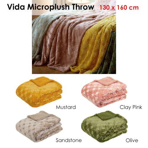 Vida Microplush Throw 130x160cm by J Elliot Home