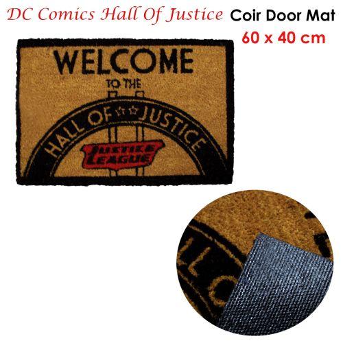 DC Comics Coir Door Mat - Hall Of Justice 60 x 40cm