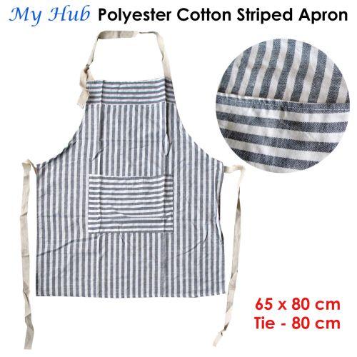 My Hub Polyester Cotton Striped Apron 65 x 80 cm