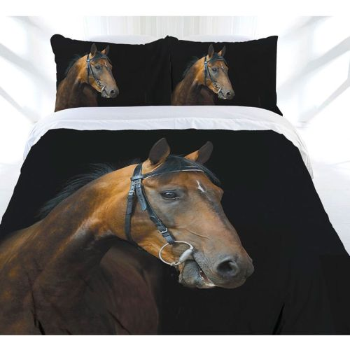 Dark Rider Quilt Cover Set by Just Home