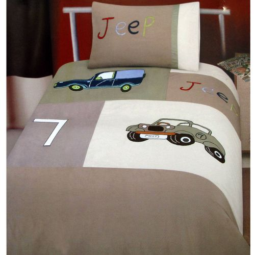 Jeep Classics Collection Embroidered Quilt Cover Set Single