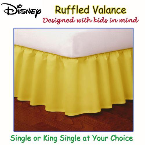 Yellow Ruffled Bed Valance by Disney