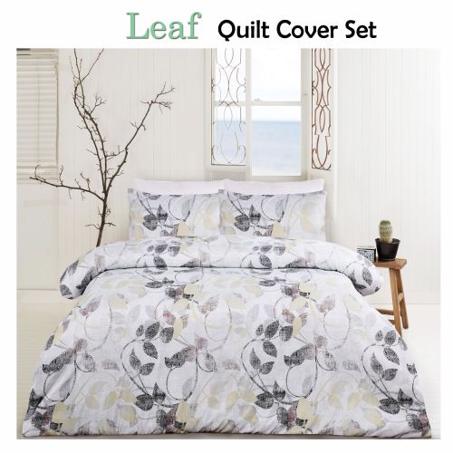 Leaf Moss Quilt Cover Set by Big Sleep