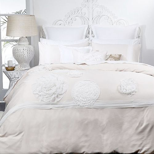 Tiffany Blush Quilt Cover Set by Platinum Collection