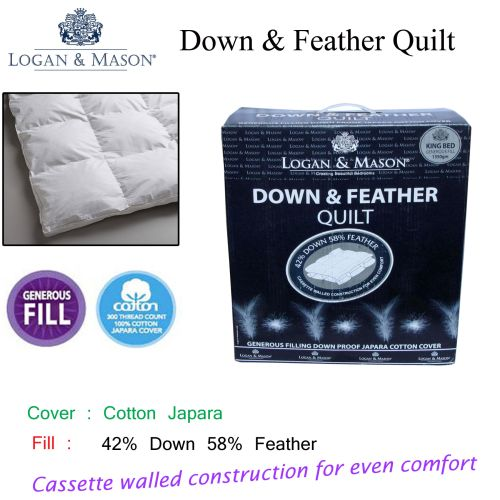 42% Down 58% Feather Quilt by Logan & Mason
