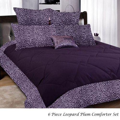 6 Pce Leopard Comforter Set Single