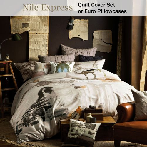 Nile Express Quilt Cover Set by Linen House