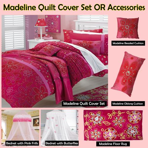 Madeline Red Quilt Cover Set by Jiggle & Giggle
