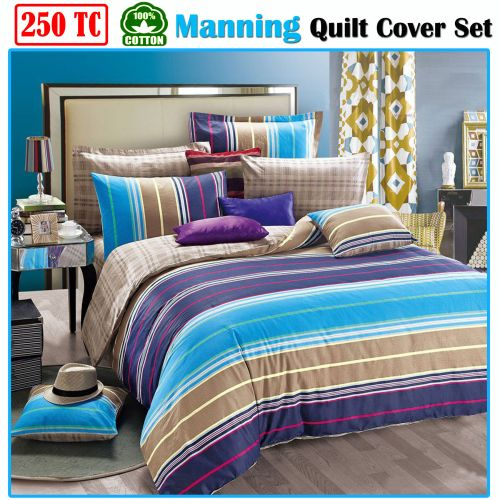 Manning 250TC Cotton Quilt Cover Set by Ardor
