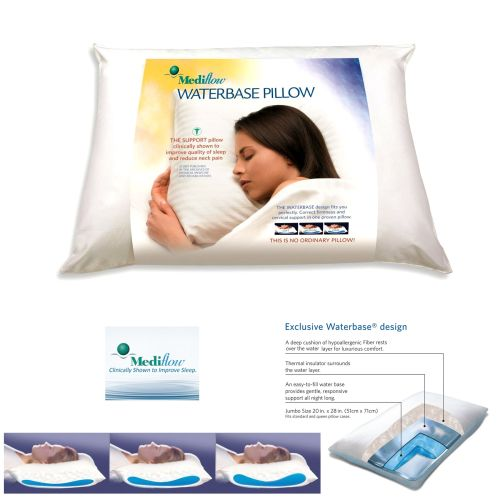 Adjustable Waterbase Water Neck Pain Reduction Standard Pillow 51 x 71 cm by Mediflow