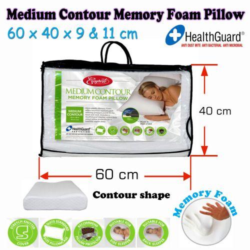 Medium Contour Memory Foam Pillow by Easyrest