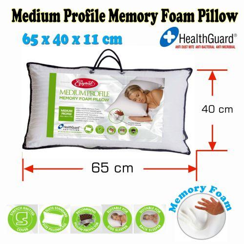 Medium Profile Memory Foam Pillow by Easyrest