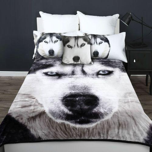 600GSM Wolf Mink Blanket by Georges Fine Linens