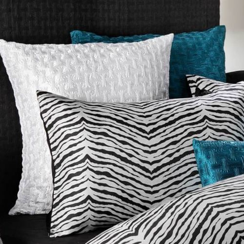 Zebra Jacquard Quilt Cover Set Queen by Georges Fine Linens