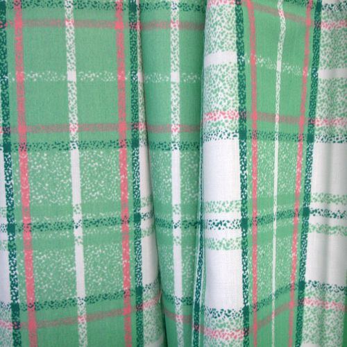 One Pair of Polyester Cotton Rod Pocket Print Curtains by Home Innovations