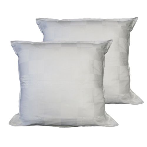 Pair of Dominic White European Pillowcases by Chameleon Bedwear
