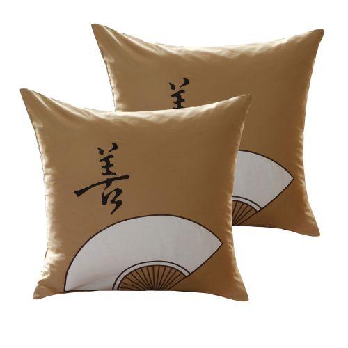 Pair of Fan European Pillowcases by Orient Sense