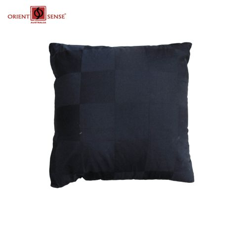 Dominic Black Cushion by Chameleon Bedwear