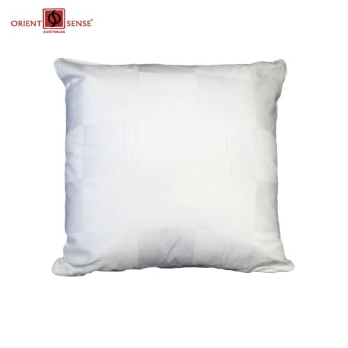 Dominic White Cushion Cover by Chameleon Bedwear