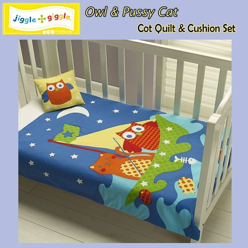 Owl Pussy Cat Comforter + Cushion