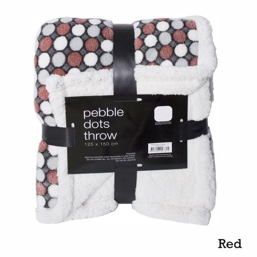 Pebble Dots Soft Feel Throw 125 x 150 cm by IDC Homewares