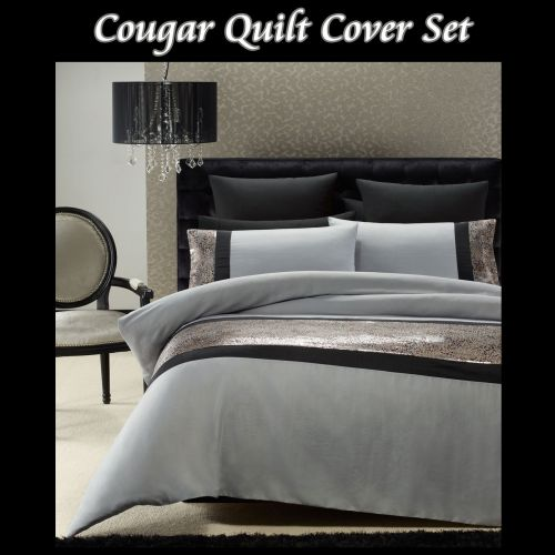Cougar Quilt Cover Set Double by Phase 2