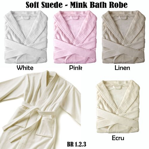 Suede-Mink Bath Robe by Phase 2