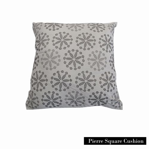 Pierre Cream Embroidery Square Cushion